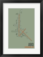 Framed ABQ Airport Layout