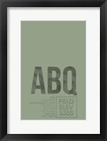 Framed ABQ ATC