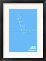 Framed ANC Airport Layout