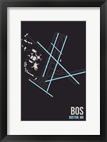 Framed BOS Airport Layout