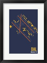 Framed DAL Airport Layout