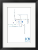Framed DEN Airport Layout