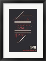 Framed DFW Airport Layout