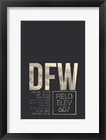 Framed DFW ATC