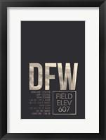 Framed DFW ATC