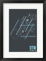 Framed DTW Airport Layout