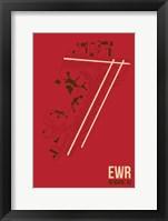 Framed EWR Airport Layout