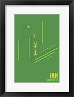 Framed IAH Airport Layout