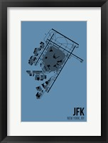Framed JFK Airport Layout