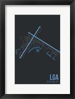 Framed LGA Airport Layout