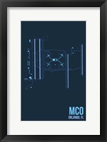 Framed MCO Airport Layout