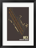 Framed MEX Airport Layout