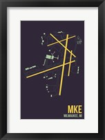 Framed MKE Airport Layout