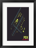 Framed PDX Airport Layout