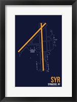 Framed SYR Airport Layout