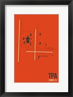 Framed TPA Airport Layout