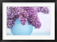 Framed Lilacs in Blue Vase III