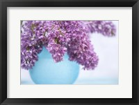 Framed Lilacs in Blue Vase III