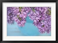 Framed Lilacs in Blue Vase V