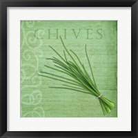 Framed Classic Herbs Chives