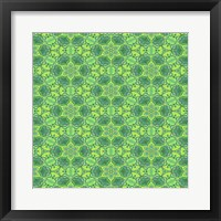 Framed Stained Glass Green Pattern
