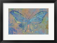 Framed Turquoise Butterfly