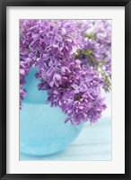 Framed Lilacs in Blue Vase IV