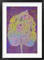 Framed Leaf Lemon on Violet