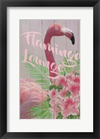 Framed Flamingo Lounge