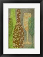 Framed Art of Wine - Champagne