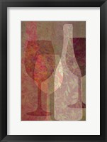 Framed Art of Wine - Rhone Valley