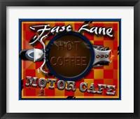 Framed Fast Lane Motor Cafe