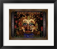 Framed Scarlet Begonias Coffee & Remedies