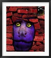Framed Stone Monkey