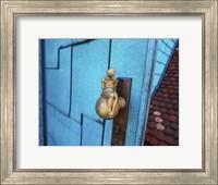 Framed Blue Door