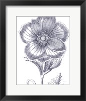 Framed Belle Fleur II Light Crop
