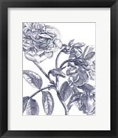 Framed Belle Fleur I Light Crop