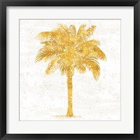 Palm Coast II On White Framed Print