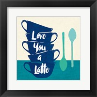 Framed Linen Coffee III Light