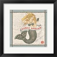 Framed Drift Away Mermaid