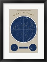 Framed Southern Star Chart