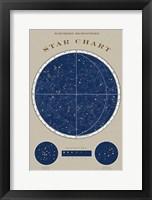 Framed Northern Star Chart