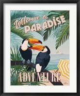 Framed Welcome to Paradise II