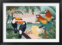 Framed Welcome to Paradise I