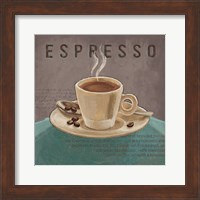 Framed Coffee and Co III Teal and Gray
