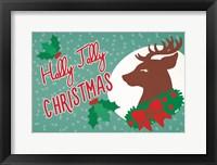 Framed Retro Christmas I Bright
