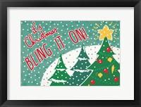 Framed Retro Christmas IV Bright