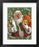 Framed Santas List IV Crop