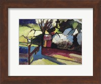 Framed Herbstlandschaft mit Baum (1910)