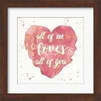 Framed Happy Hearts I Pink